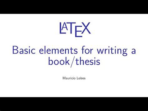 Latex thesis book